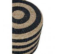 Black & Natural Seagrass Pouffe   Home Accessories